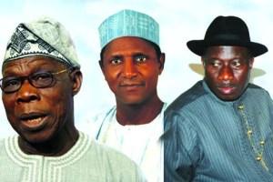 Obasanjo Yar'Adua and Jonathan